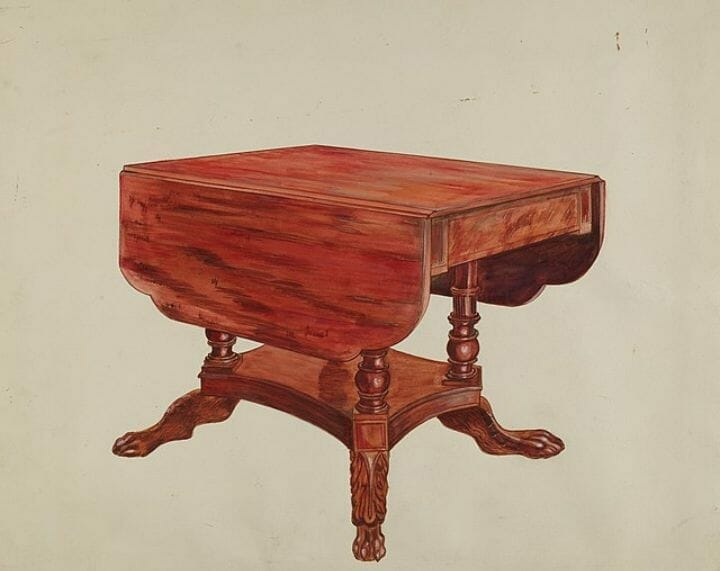 What Is A Drop Leaf Table: Pedestal Table